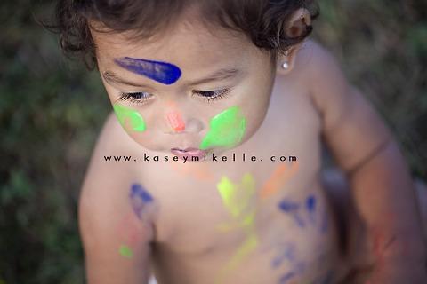 Omaha Child Photographer Paint shoot ideas